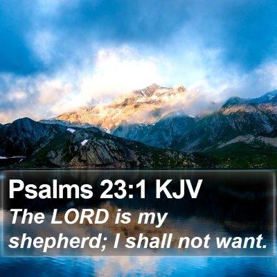 Psalms 23:1 KJV Bible Verse Image