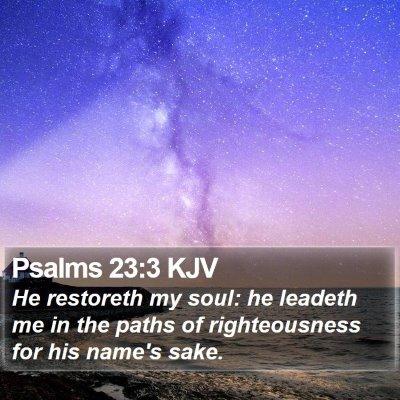 Psalms 23:3 KJV Bible Verse Image