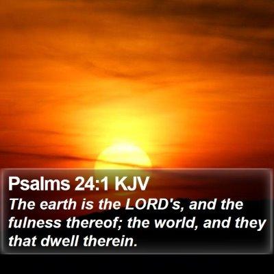 Psalms 24:1 KJV Bible Verse Image