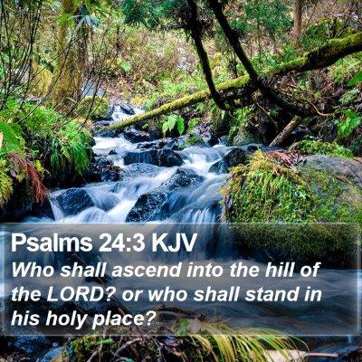 Psalms 24:3 KJV Bible Verse Image