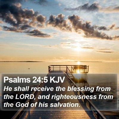 Psalms 24:5 KJV Bible Verse Image