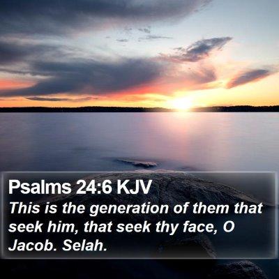 Psalms 24:6 KJV Bible Verse Image