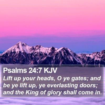 Psalms 24:7 KJV Bible Verse Image
