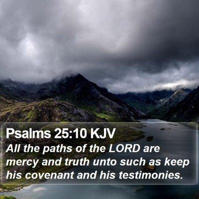 Psalms 25:10 KJV Bible Verse Image