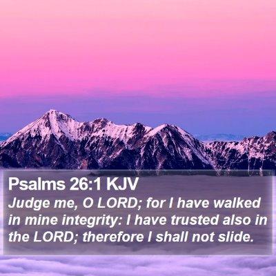 Psalms 26:1 KJV Bible Verse Image