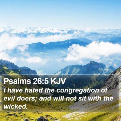 Psalms 26:5 KJV Bible Verse Image