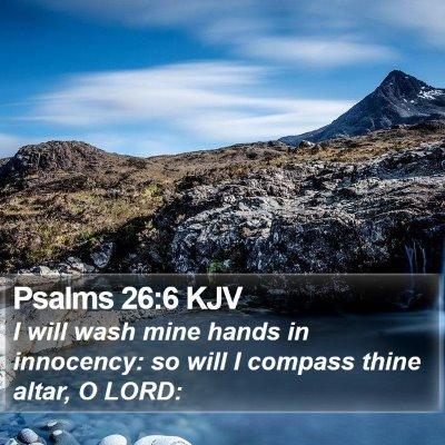 Psalms 26:6 KJV Bible Verse Image