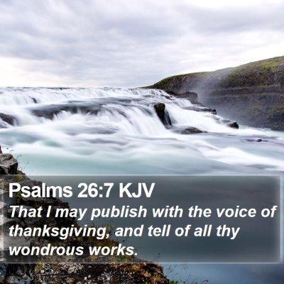 Psalms 26:7 KJV Bible Verse Image