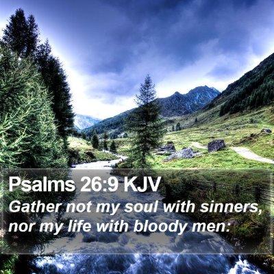 Psalms 26:9 KJV Bible Verse Image