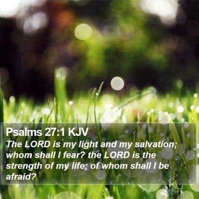 Psalms 27:1 KJV Bible Verse Image
