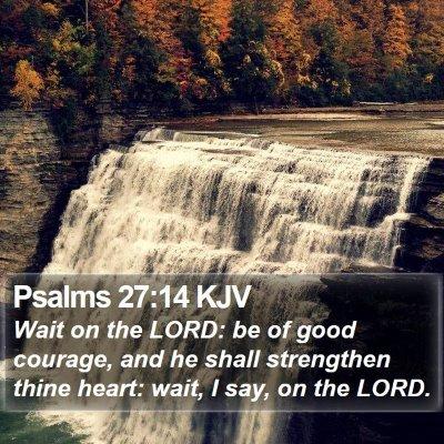 Psalms 27:14 KJV Bible Verse Image