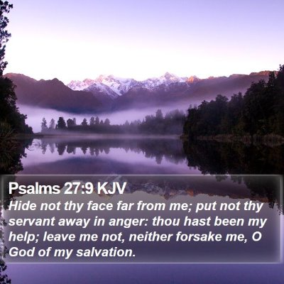 Psalms 27:9 KJV Bible Verse Image