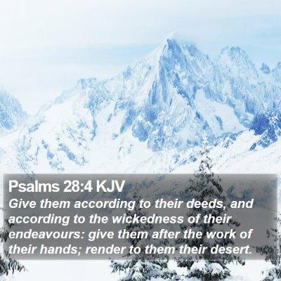 Psalms 28:4 KJV Bible Verse Image
