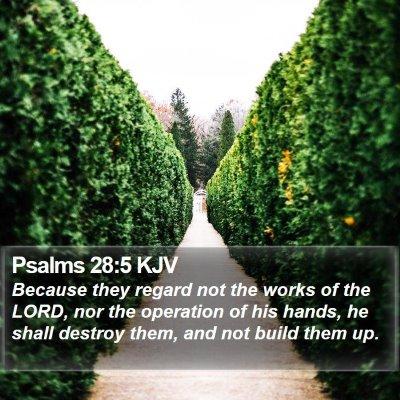Psalms 28:5 KJV Bible Verse Image
