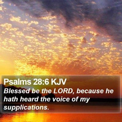 Psalms 28:6 KJV Bible Verse Image