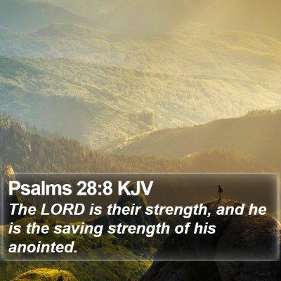 Psalms 28:8 KJV Bible Verse Image