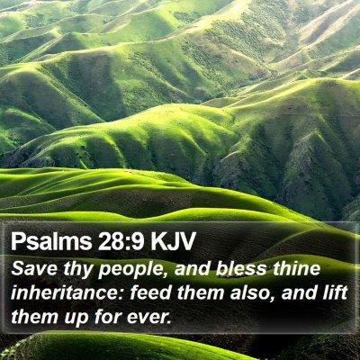 Psalms 28:9 KJV Bible Verse Image