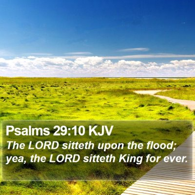 Psalms 29:10 KJV Bible Verse Image
