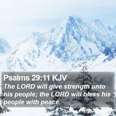 Psalms 29:11 KJV Bible Verse Image
