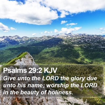 Psalms 29:2 KJV Bible Verse Image