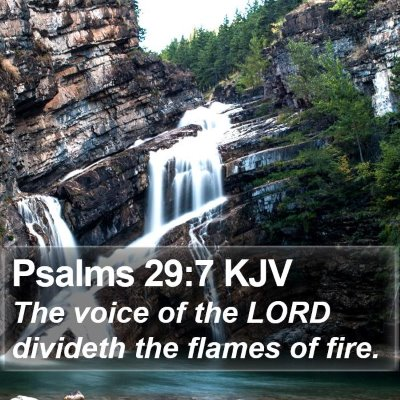 Psalms 29:7 KJV Bible Verse Image
