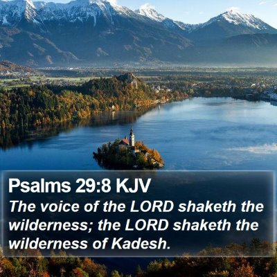 Psalms 29:8 KJV Bible Verse Image