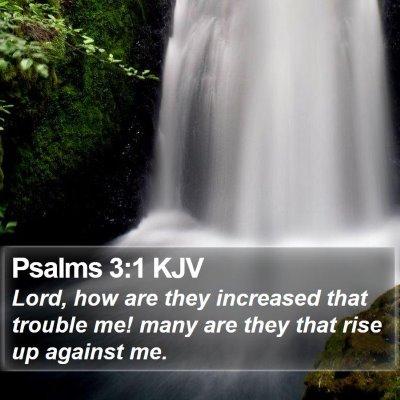 Psalms 3:1 KJV Bible Verse Image