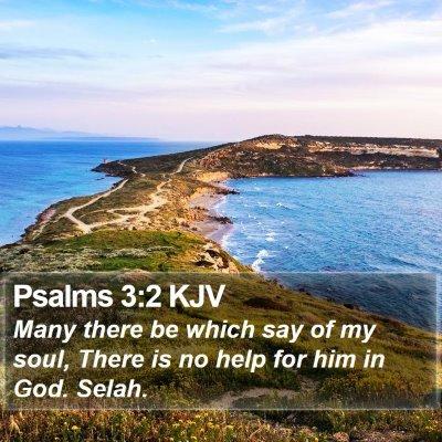 Psalms 3:2 KJV Bible Verse Image