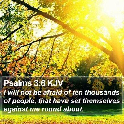 Psalms 3:6 KJV Bible Verse Image
