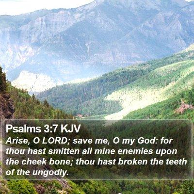 Psalms 3:7 KJV Bible Verse Image