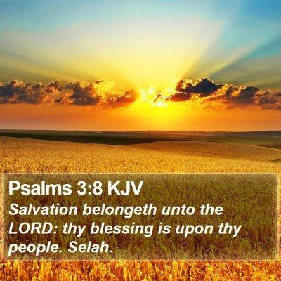 Psalms 3:8 KJV Bible Verse Image