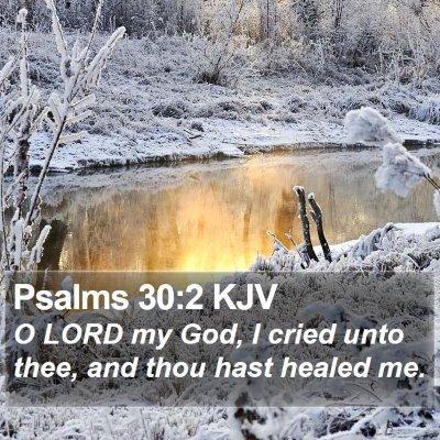 Psalms 30:2 KJV Bible Verse Image