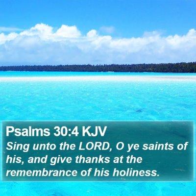 Psalms 30:4 KJV Bible Verse Image