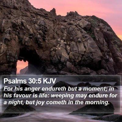 Psalms 30:5 KJV Bible Verse Image