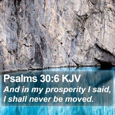 Psalms 30:6 KJV Bible Verse Image