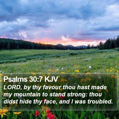 Psalms 30:7 KJV Bible Verse Image