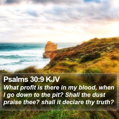 Psalms 30:9 KJV Bible Verse Image