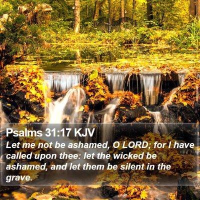 Psalms 31:17 KJV Bible Verse Image
