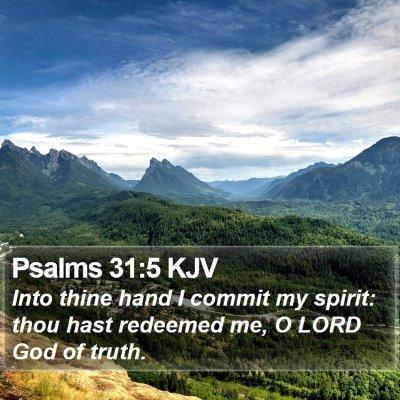 Psalms 31:5 KJV Bible Verse Image
