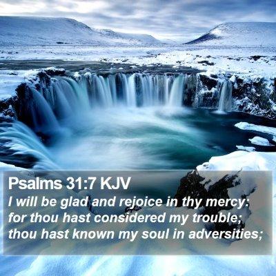 Psalms 31:7 KJV Bible Verse Image