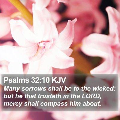 Psalms 32:10 KJV Bible Verse Image
