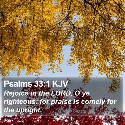 Psalms 33:1 KJV Bible Verse Image