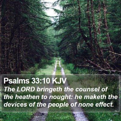 Psalms 33:10 KJV Bible Verse Image