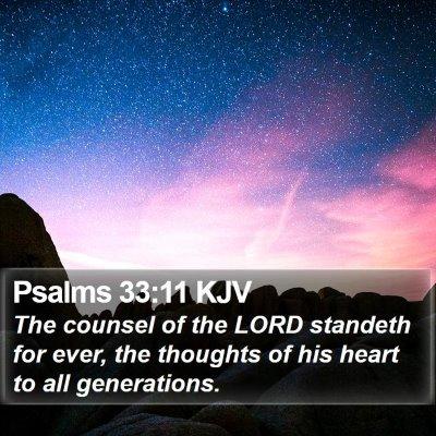 Psalms 33:11 KJV Bible Verse Image