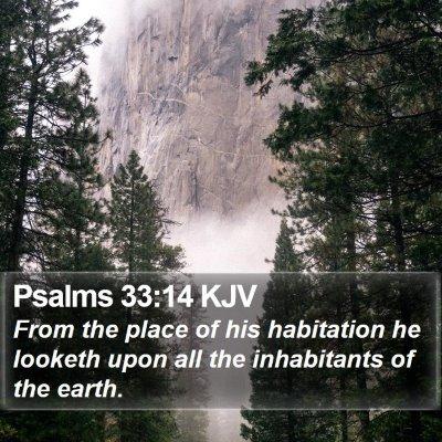 Psalms 33:14 KJV Bible Verse Image