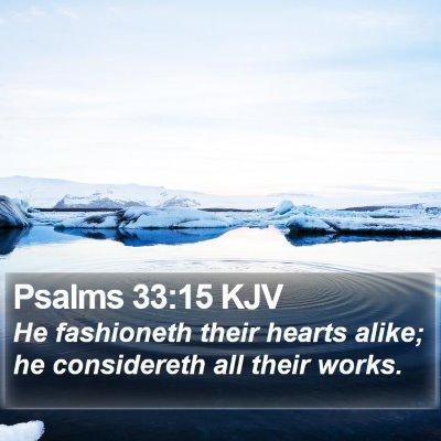 Psalms 33:15 KJV Bible Verse Image