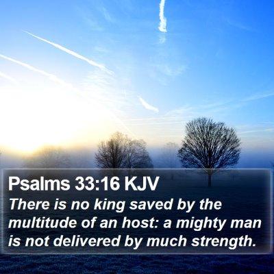 Psalms 33:16 KJV Bible Verse Image