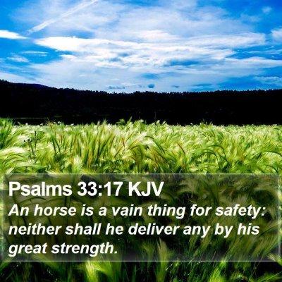 Psalms 33:17 KJV Bible Verse Image