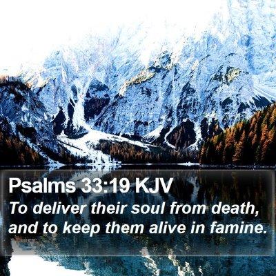 Psalms 33:19 KJV Bible Verse Image