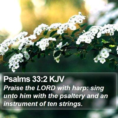 Psalms 33:2 KJV Bible Verse Image